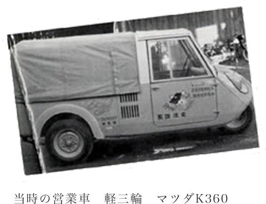 当時の営業車 軽三輪 マツダK360